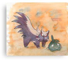 stunky and trubbish pokemon Canvas Print