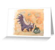 stunky and trubbish pokemon Greeting Card