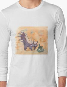 stunky and trubbish pokemon Long Sleeve T-Shirt