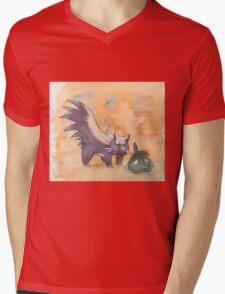 stunky and trubbish pokemon Mens V-Neck T-Shirt