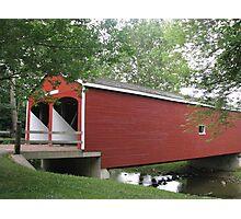 Nation's Oldest Double-Barreled Covered Bridge Photographic Print