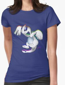 Lugia Print Womens Fitted T-Shirt