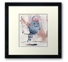 spoink the pig Framed Print