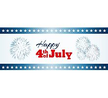 Happy 4th of July - Fireworks Photographic Print