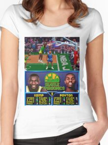 Seattle Supersonics NBA Jam  Women's Fitted Scoop T-Shirt
