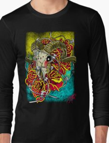 ram skull Long Sleeve T-Shirt