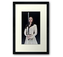 The Lady and the Sword Framed Print