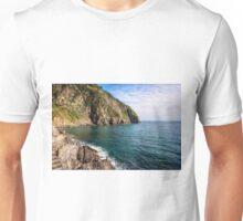 Rocky Shore Riomaggiore Cinque Terre Italy Unisex T-Shirt