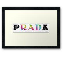 p RAD a   rainbow Framed Print