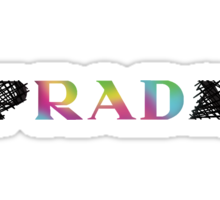 p RAD a   rainbow Sticker
