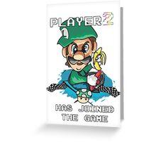 Player 2 Greeting Card