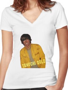 Tanuchi Gold Women's Fitted V-Neck T-Shirt