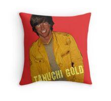 Tanuchi Gold Throw Pillow