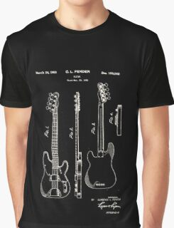 Fender Telecaster Guitar Patent 1953 Graphic T-Shirt