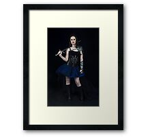 A girl and her sword. Framed Print