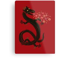 Dragon, Flower Breathing Metal Print