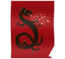 Dragon, Flower Breathing Poster
