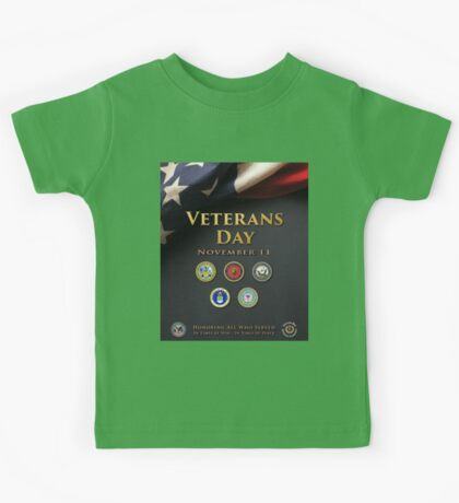 Veterans Day Armed Forces Poster Kids Tee