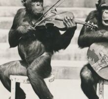 Monkey Musicians - Chimp Bluegrass Sticker