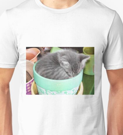Kitten Snuggle Pot Unisex T-Shirt