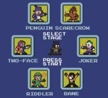 8-bit Batman Select Screen Shirt by 8 Bit Hero