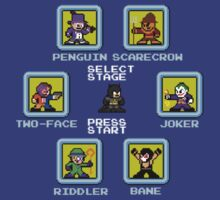 8-bit Batman Select Screen Shirt by 8 Bit Hero