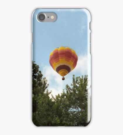 Hot Air Balloon Among the Trees iPhone Case/Skin