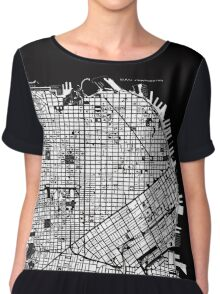 San Francisco map engraving Chiffon Top