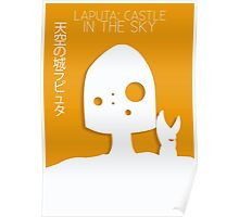 Laputa: Castle in the Sky Minimalist Movie Poster Poster