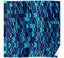 Blue Coloured Pattern Poster