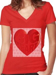 BIG HEART Women's Fitted V-Neck T-Shirt