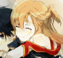 Kirito and Asuna Sticker
