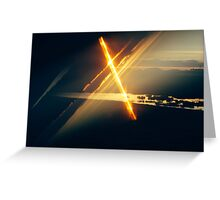 First Light at Dawn: Lens Interference 4 Greeting Card