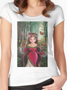 The Druid Girl Women's Fitted Scoop T-Shirt