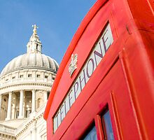St Pauls And Phone Box by Mark Eden