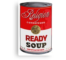 warhol religion condensed soup Canvas Print