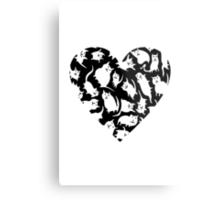 Crazy Cat Heart  Metal Print