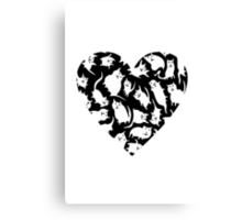 Crazy Cat Heart  Canvas Print