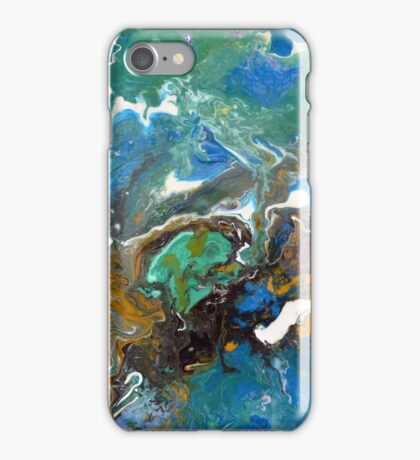 Earth, Abstract, Fluid, Painting, colourful iPhone Case/Skin
