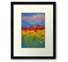 An expansive place in summers bliss Framed Print