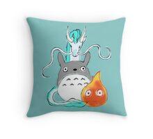 A tribute to Hayao Miyazaki Throw Pillow