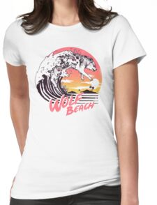 Wolf Beach Womens Fitted T-Shirt