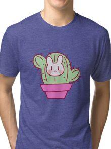 Bunny Face Cactus Tri-blend T-Shirt