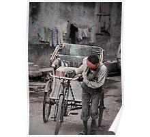 Streets of Varanasi I Poster