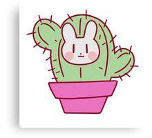 Bunny Face Cactus Canvas Print