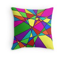 Geometric Color Quilt Throw Pillow