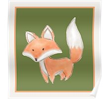 Cute Little Fox Painting Poster