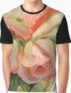 Miracle Of A Rose Bud - Peach Graphic T-Shirt