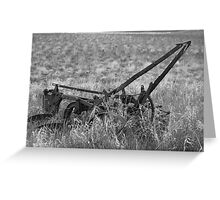 Antique Plow Abandoned in a Field Greeting Card