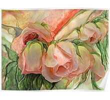 Miracle Of A Rose Bud - Peach Poster
